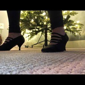 Chanel evening satin heels